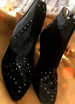 Ivylee брендовые натуральные замшевые ботильоны челси на каблуке