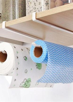 Железный держатель для бумажных полотенец (Белый)