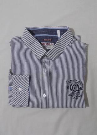 Рубашка в мелкую серую полоску 'camp david' 54-56р