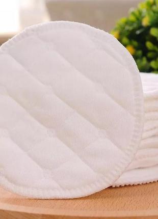 Спонжи многоразовые белые хлопок круглые