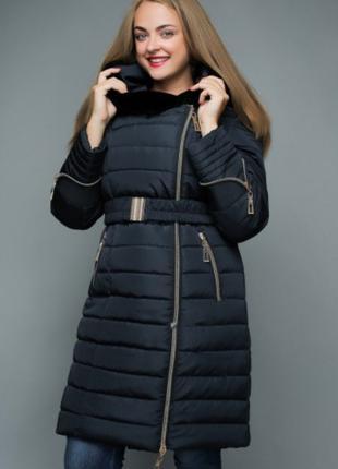 Зимняя женская куртка большого размера до 62