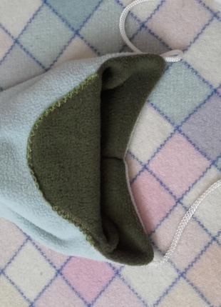 Тепла флісова шапка на малечу 3 місяці