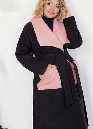 Модное пальто большого размера Размеры:48-52, 54-58