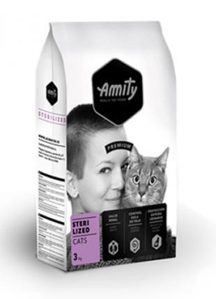 Корм для кошек стерилизованных AMITY Sterilized с мясом птицы ...