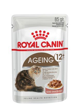 Консервированный корм для котов ROYAL CANIN AGEING +12 в соусе...