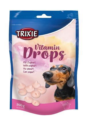 Лакомство для собак и щенков trixie Drops йогурт