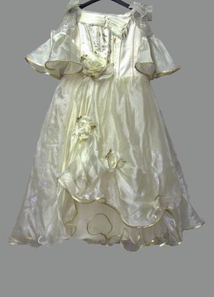 """Нарядное выпускное платье, на утренник цвет """"шампань"""""""