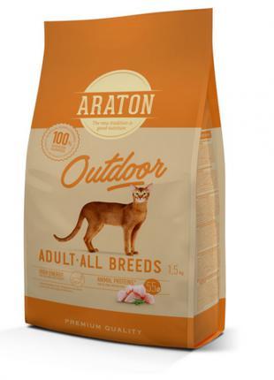 Сухой корм для кошек Araton Cat Adult Outdoor,1,5 кг