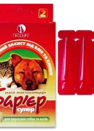 Капли от блох и клещей для кошек Барьер Супер, 1 мл*10 кг, 3 п...