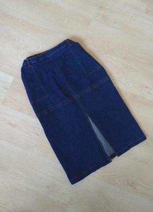 Прямая джинсовая юбка юбка-карандаш
