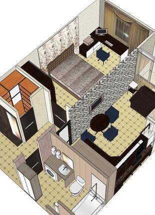 Проектирование интерьера , мебели любой сложности,опыт работы ...