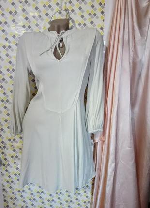 Интересное рубашка-платье цвета ванили * topshop