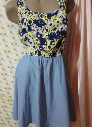 Нежное комбинированное платье 👗 henry holland
