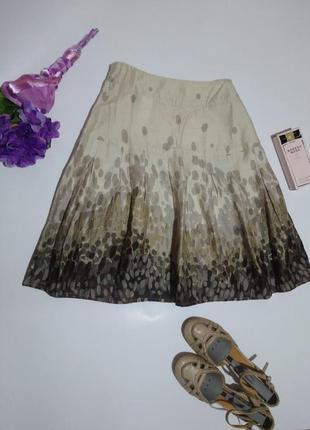 Прекрасная юбка из натуральной ткани,от h&m* размер л