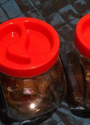 Набор контейнеров для сыпучих,конфет.толстое стекло.