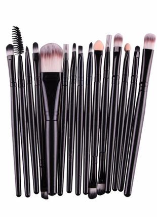 13-15 см кисти для макияжа набор 15 шт black/black probeauty