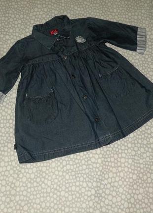 Джинсовое платье 1-2 года
