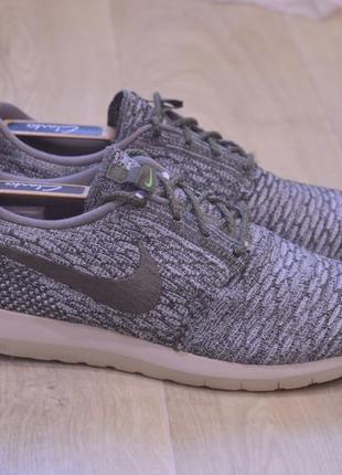 Nike roshe run flyrnit wolf grey мужские кроссовки оригинал