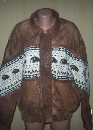 Мужская  кожаная евро куртка на 54 размер