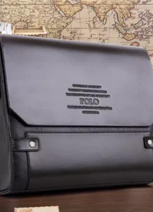 Каркасная мужская сумка-портфель Polo (Поло)(009), под формат А4,