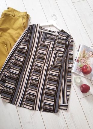 Лаконичная модная блуза прямого силуэта..# 499 papaya