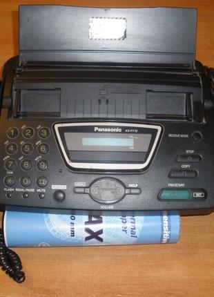 Факсимильный аппарат Panasonic KX-FT72 Black Б.У.