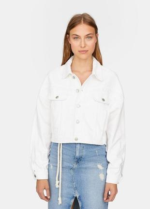 Пиджак женский джинсовый stradivarius испания