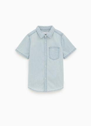 Рубашка джинсовая для мальчика подростка zara испания