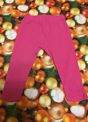 Штани лосіни рожеві в крапку 1-1.5 mini club