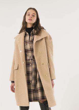 Женское шерстяное пальто season бежевого цвета
