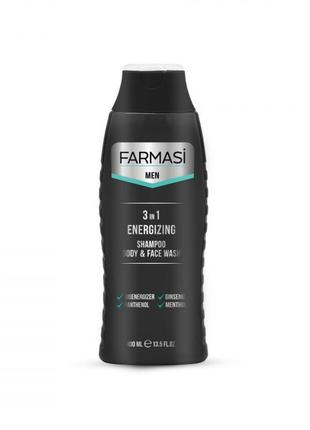 Гель для душу мужской фармаси farmasi men 3in1 400 мл