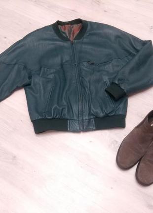 Фирменная мужская кожаная куртка. куртка из натуральной кожи.