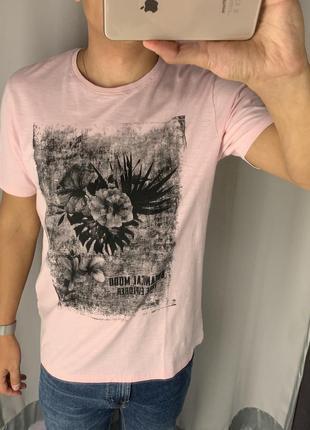 Хлопковая футболка с принтом fishbone есть размеры