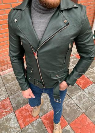 Куртка кожанка косуха мужская