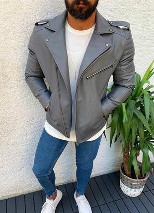 Косуха кожанка куртка мужская