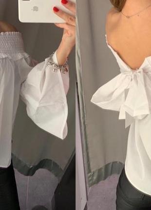 Белая рубашка на плечи amisu есть размеры