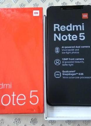 Xiaomi Redmi Note 5 4/64Gb black, Global version!