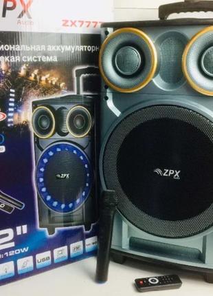 Портативная Акустическая колонка с микрофоном Bluetooth USB/FM...