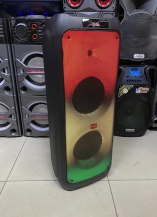 Портативная колонка на аккумуляторе с двумя радио микрофонами ...