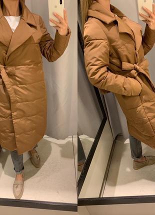 Коричневое пальто куртка reserved есть размеры