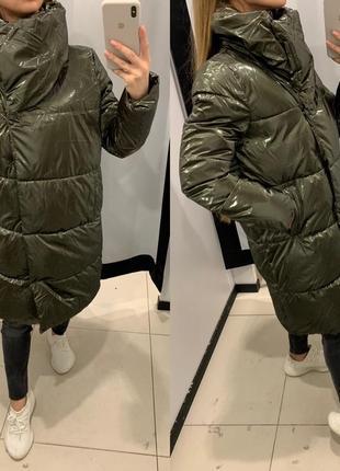 Тёплое осеннее пальто одеяло куртка mohito есть размеры