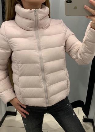 Пуховая курточка пудровая куртка пуховик mohito есть размеры