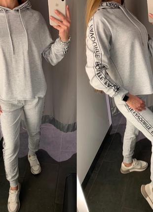 Серый спортивный костюм комплект amisu есть размеры