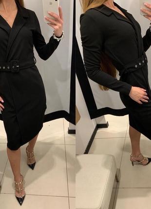 Чёрное платье жакет mohito есть размеры