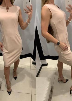 Пудровый платье футляр mohito есть размеры