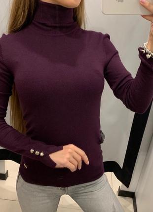 Бордовый гольф водолазка свитер mohito есть размеры