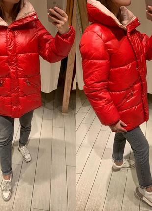 Объемная красная куртка курточка house есть размеры