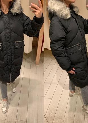 Стеганая зимняя куртка пуховик house есть размеры