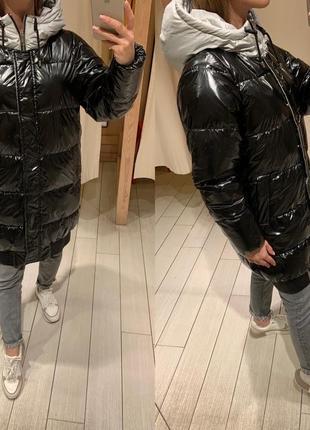 Удлиненная стеганая куртка курточка house есть размеры