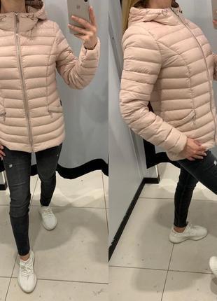 Пудровая куртка пуховик курточка mohito есть размеры